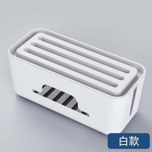 『環球嚴選』免運-白款-電線整理盒手機支架/手機架/集線盒/插座盒/理線/收納AAN0488