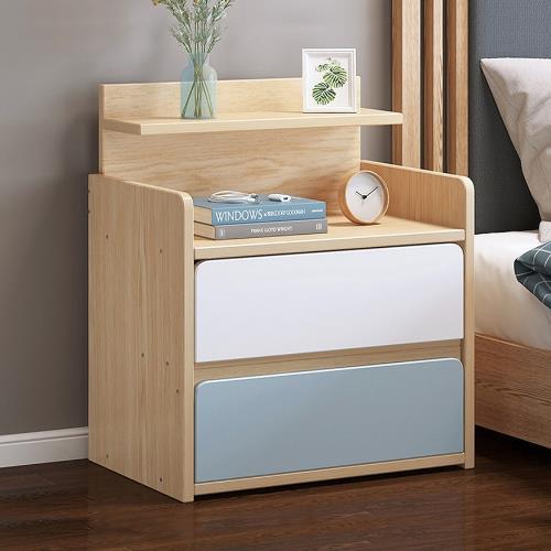 [生活藏室] WB簡約加大兩抽床頭櫃-加高款