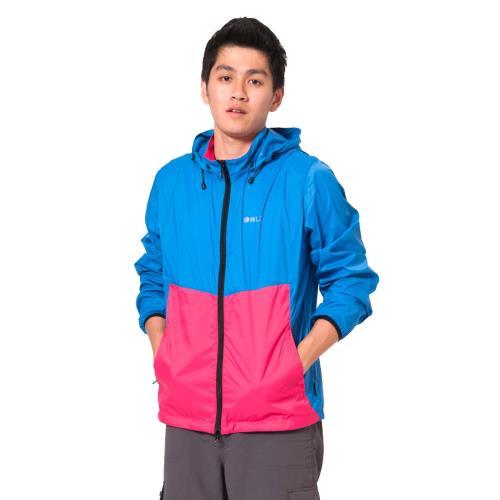 日本namelessage無名世代男款抗UV防風透氣輕量可收納口袋衣休閒外套(檸檬黃/寶藍)_41M19