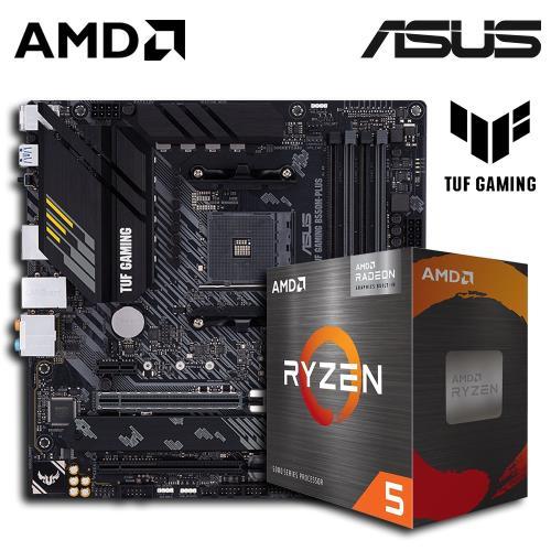 AMD Ryzen 5 R5-5600G 6核心 中央處理器 + 華碩 TUF GAMING B550M-PLUS 主機板 組合品