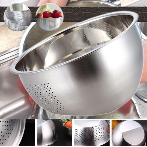 304不銹鋼雙底面淘米洗菜盆
