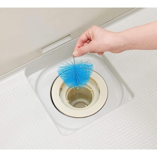 日本COGIT洗手台地板浴缸排水口用頭髮防堵塞刷毛屑過濾器過濾網920455(不髒手,山水口毛髮防塞防堵)適浴室廁所衛生間