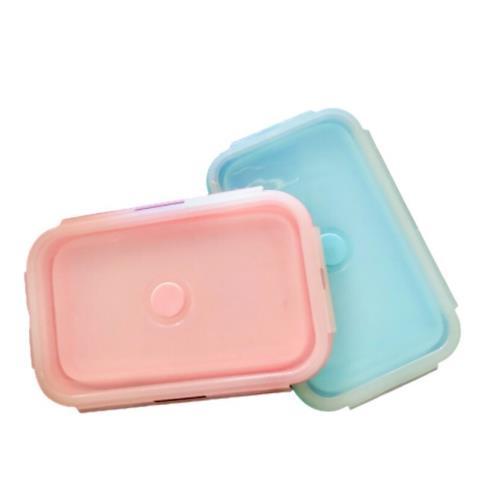 外銷美日韓MIT矽膠折疊抗菌密封保鮮盒