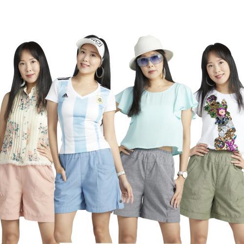 下殺↘蘭陵(4入)繽紛舒適有型休閒短褲J03-41