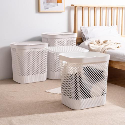 Mr.box 大容量洗衣籃髒衣籃-附蓋 (大款)