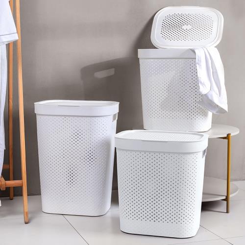 Mr.box 大容量洗衣籃髒衣籃-附蓋 (特大款)