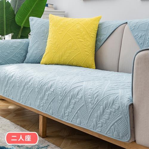 【BonBon naturel】簡約質感浮雕防滑沙發墊-雙人坐墊