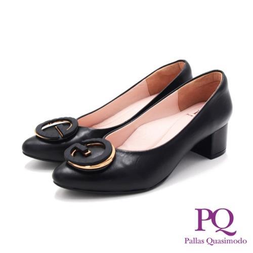 PQ(女)尖頭G飾釦跟鞋