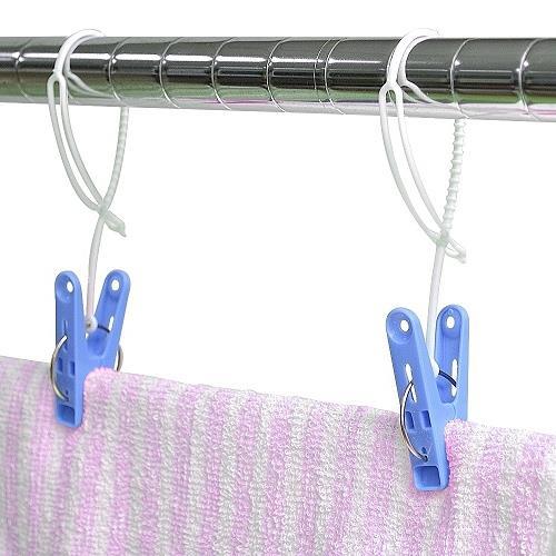 日本AISEN標準型附繩曬衣夾(3包裝45夾)