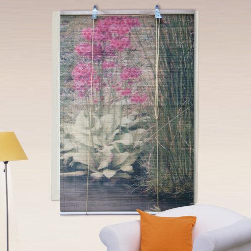 棉花田【花卉】彩色天然竹捲簾(150x160cm)