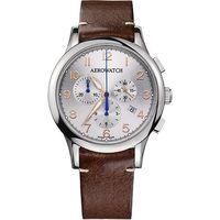 AEROWATCH Grace優雅風範三眼計時腕錶A83966AA03