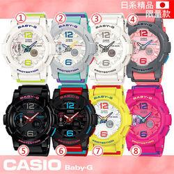 【CASIO 卡西歐 Baby-G 系列】日系限量版-衝浪/極限運動女錶-非亞洲版(BGA-180)