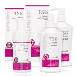 TS6護一生 果萃特護清潔組(果萃沐浴晶露X2+潔淨慕斯-加護型X1)