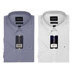 【MURANO】美式適感滿分短袖商務襯杉 限定組 藍+白