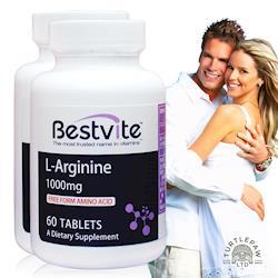 【美國BestVite】必賜力左旋精胺酸錠2瓶組 (60錠*2瓶)
