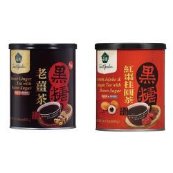 薌園 黑糖老薑茶(500g)x2罐/黑糖紅棗桂圓茶(400g)x2罐