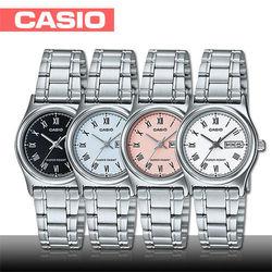 【CASIO 卡西歐】送禮首選-羅馬文字簡約時尚女錶(LTP-V006D)
