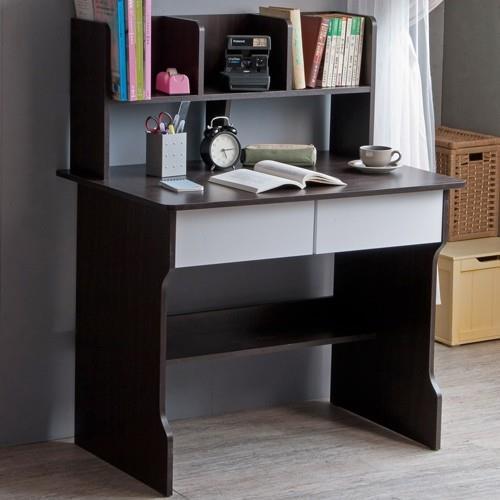 TZUMii曼德雙抽層架書桌三色可選