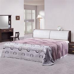 時尚屋 [G16]榭爾曼5尺胡桃雙人床G16-047-1+033-2不含床頭櫃-床墊/