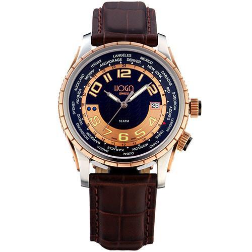 HOGA品味非凡GMT氚氣機械錶-黑-43mm/