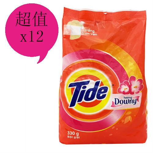 【TIDE】花香洗衣粉(330g)*12包