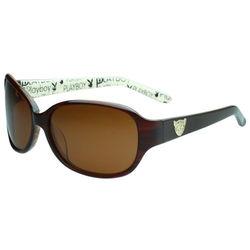 PLAYBOY-時尚太陽眼鏡(咖啡色)PB83056