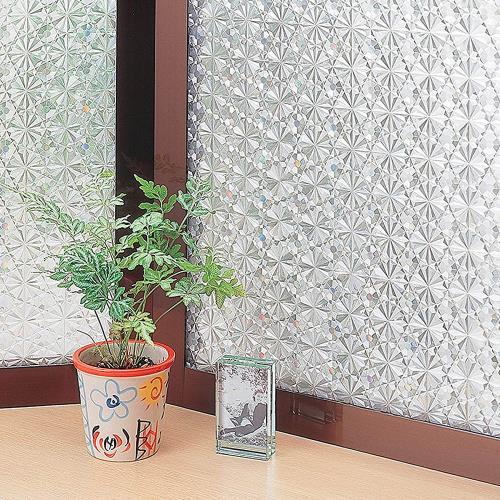 MEIWA 日本節能抗UV靜電窗貼92x1500cm(萬花齊放)