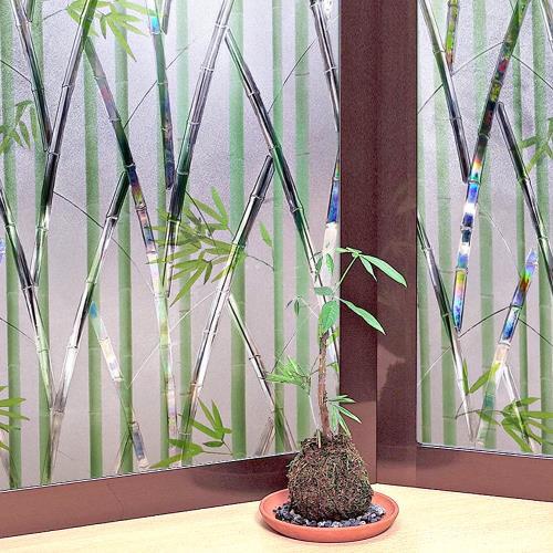 MEIWA 日本節能抗UV靜電窗貼46x100cm(竹林風情)