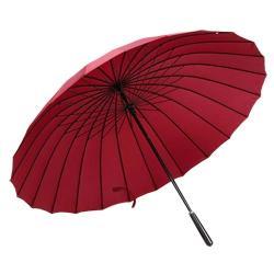 PUSH! 好聚好傘, 24骨3人UPF30+抗紫外線雨傘遮陽傘(附贈懸掛傘架子1pcs)I27-2棗紅