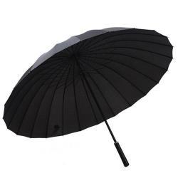 PUSH! 好聚好傘, 24骨3人UPF30+抗紫外線雨傘遮陽傘(附贈懸掛傘架子1pcs)I27黑色