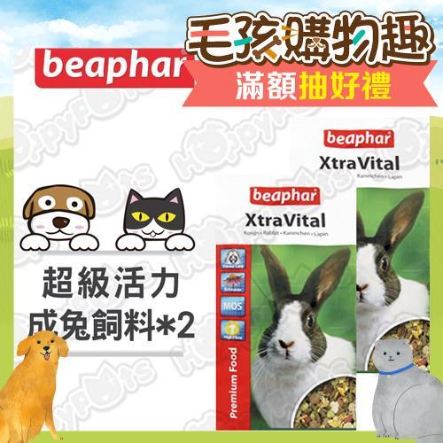 【beaphar樂透】超級活力成兔飼料(2.5kgx2包)/