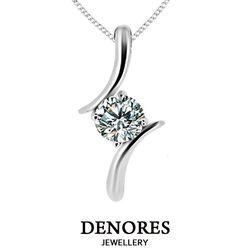 DENORES 女神 0.50克拉D/VS2八心八箭美鑽項鍊