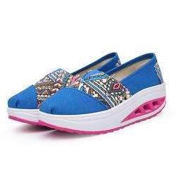 【Alice 】(現貨+預購)Y1020輕盈彈力民族風格拼接健走鞋