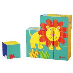 classic world 德國經典木玩 客來喜 可愛動物六面拼圖組