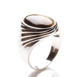 【寶石方塊】個中翹楚天然黃金虎眼石戒指