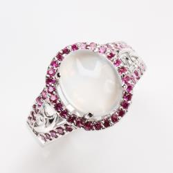 【寶石方塊】秀外慧中天然月光石戒指