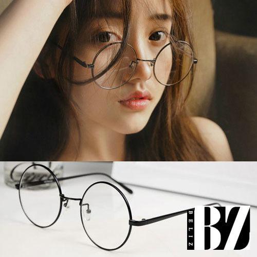 BeLiz圓框細黑平光眼鏡/