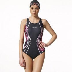 【SAIN SOU】競賽/泳隊/專業用大女連身三角泳裝加贈矽膠泳帽A97508
