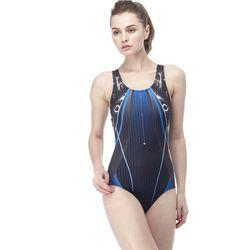 【SAIN SOU】競賽/泳隊/專業用大女連身三角泳裝加贈矽膠泳帽A97441