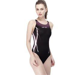 【SAIN SOU】競賽/泳隊/專業用大女連身三角泳裝加贈矽膠泳帽A97445-01