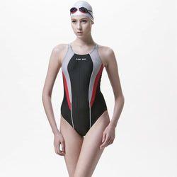 【SAIN SOU】競賽/泳隊/專業用大女連身三角泳裝加贈矽膠泳帽A97245