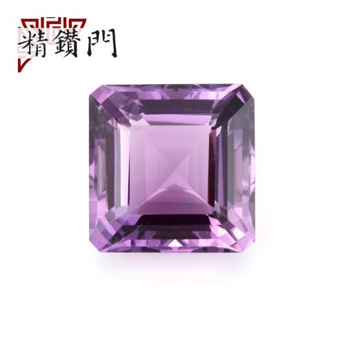 【精鑽門】方形紫色水晶裸石