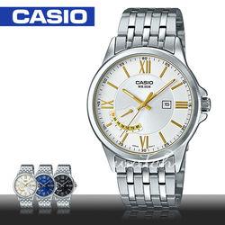 【CASIO 卡西歐】上班族首選_不鏽鋼指針型男錶(MTP-E125D)
