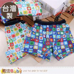 魔法Baby 男童內褲 台灣製POLI授權正版純棉平口內褲(四件一組)~k50179
