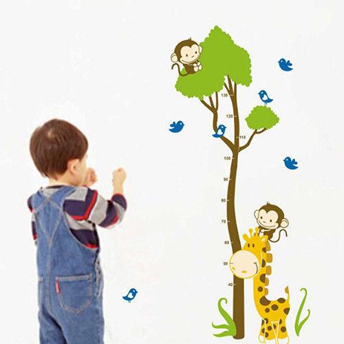 時尚壁貼 -猴子爬樹身高貼