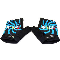 omax風火輪萊卡半指手套--藍色