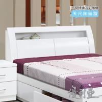 【優利亞-卡尼爾白色】雙人5尺床頭箱