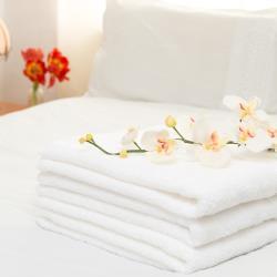 花季 典雅風情-純白五星飯店級厚織大浴巾x3件組(133x68cm/600g)