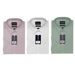 【MURANO】美式適感滿分短袖商務襯杉 限定組 粉 / NAILHEAD白 / 綠
