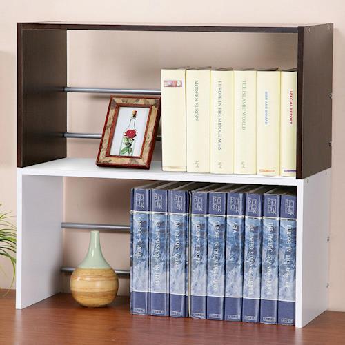 Homelike 可疊式置物書架二入組